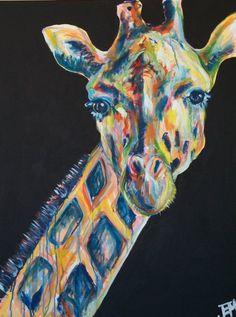 Original 30x40 Gigi the Giraffe Painting by by JenniferMoreman