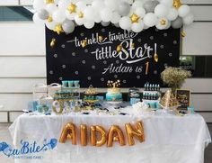 Incredible Twinkle Twinkle Little Star birthday party! See more party ideas at CatchMyParty.com!