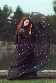 Constellations cloak in vegan silk chiffon Celestial Fashion Galaxy cape with hood handfasting medieval dark fantasy witch wizard costume Wizard Costume, Costumes, Cute Witch Costume, Witch Aesthetic, Aesthetic Fashion, Modern Witch Fashion, Steampunk Fashion, Gothic Fashion, Aesthetic Dark