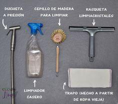 Lo que uso para limpiar mi baño. Baño sin plástico, minimalista y zero waste | Ecoblog Nonoa.