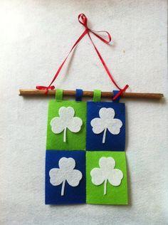 DIY St. Patrick's  : DIY St. Patrick's Day Shamrock Flag