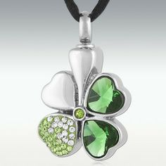 Clover Stainless Steel Cremation Jewelry - Engravable