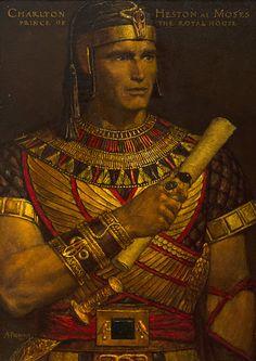Moses (Charlton Heston) in Ten Commandments - Arnold Friberg