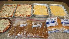 real basics to freezing meals... some basic tips for things like lasagna, enchiladas, roasts, sloppy joes, soups, etc.