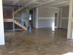 renovation in progress - new floor and timber staircase