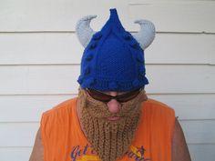 Viking beard hat Long Beard hat Beard Beanie Wild by Ritaknitsall