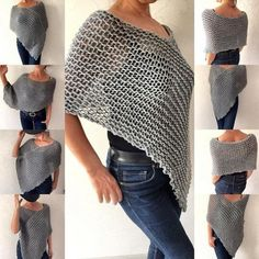 Knit poncho sweater gray alpaca poncho christmas gift womens wear fall knitwear soft and cozy winter poncho shrug shawl Handknit and crocheted women's wear and unique jewelry by Mrlworks Alpaca Poncho, Handgestrickte Pullover, Grey Poncho, Poncho Sweater, Poncho Shawl, Cropped Sweater, Grey Sweater, Scarf Knit, Knit Shrug