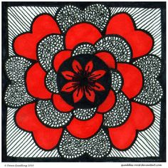 Dreaming In Red Mandala by *Quaddles-Roost on deviantART