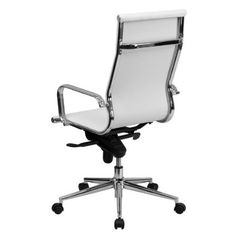 High Back Ribbed Leather Executive Swivel Office Chair with Knee Tilt Control White/Chrome – Riverstone Furniture – Executive Home Office Design Wingback Accent Chair, Teal Accent Chair, Swivel Office Chair, Office Chairs, High Back Office Chair, High Back Chairs, Lounge Chair Cushions, Conference Chairs, Accent Chairs For Living Room