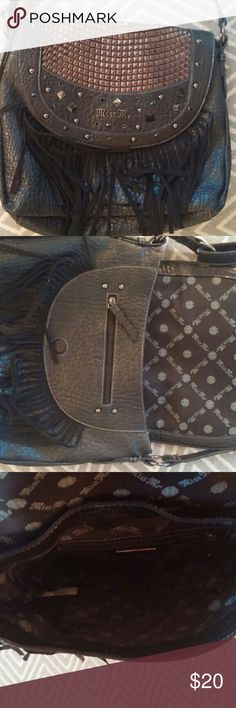Miss Me Purse Like new black miss me purse, only used once. Adjustable strap, with fringe. Miss Me Bags Shoulder Bags