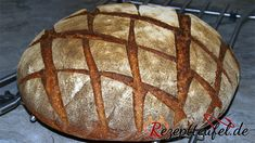 """Rustikales Sauerteigbrot The rustic sourdough bread is a rye mixed bread to which no yeast is added. The recipe for the rustic sourdough bread also succeeds with """"young"""" sourdough and is very easy to bake. No Yeast Bread, Bread Mix, Rye Bread, Sourdough Bread, Bread Rolls, Bread Baking, Healthy Baking, Easy Healthy Recipes, Fish Recipes"""