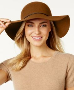 Nine West Metallic Tube Floppy Hat | macys.com