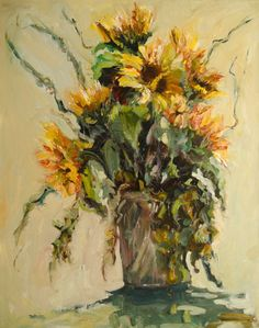 Summer Coming your Way Sunflower by Diane whitehead Oil ~ 30 x 24