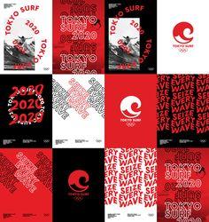 Tokyo Surf 2020 on Behance Game Design, Web Design, Book Design, Flyer Design, Sports Graphic Design, Graphic Design Layouts, Graphic Design Posters, Layout Design, Typography Poster