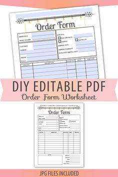 for order forms your free online order form modify this template and