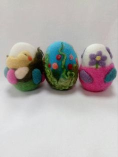 Beautiful hand crafted Easter eggs made from merino wool. The egg is wet felted then needle felted with colourful wool all handmade . Beautiful addition as an Easter decoration or center piece for Easter. Easter Eggs, Ireland, My Etsy Shop, Felt, Christmas Ornaments, Holiday Decor, Unique Jewelry, Handmade Gifts, Check