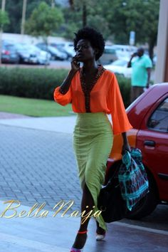 2012 Ghana Fashion & Design Week - Street Style 213. Omg she looks stunning, cant take my eyes off her!