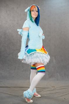 Mein kleines Pony Rainbow Dash Kostüm süß und warm von alizacraft