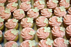 Simple but lovely cupcakes, perfect for a shower, birthday, tea party, or other occasion.