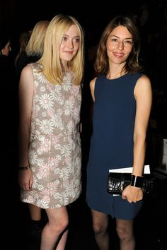 Sofia Coppola Dakota Fanning and Sofia Coppola attend the Marc Jacobs Collection - Spring 2012 Front Row at N.Y. State Armory on September 15, 2011 in New York City.