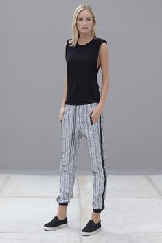 Alexis / Marvis Tapered Track Pant + Slip-on Sneakers