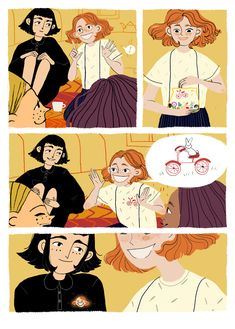 """mindaniels — """"Memories"""" - short and easy story about your kind. Comic Layout, Graphic Novel Art, Arte Sketchbook, Comic Panels, Comic Styles, Pretty Art, Character Design Inspiration, Les Oeuvres, Art Inspo"""