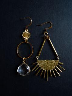 Quartz Crystal, Plating, Brass, Charmed, Sun, Drop Earrings, Gemstones, Crystals, Bracelets