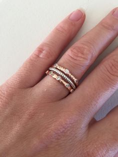 Sterling Silver Pink Twisted CZ Stacking Rings Set 7kRwfTe