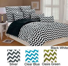 @Overstock - This microplush comforter set adds a warm and cozy touch to the bedroom decor. The machine washable set features a dynamic chevron design.http://www.overstock.com/Bedding-Bath/Chevron-Microplush-3-piece-Comforter-Set/6783058/product.html?CID=214117 $76.99