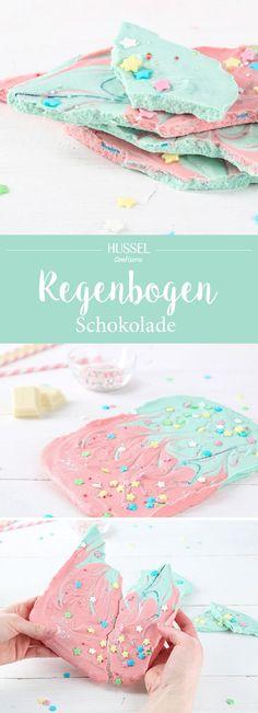 Regenbogen Schokolade – DIY Anleitung mit gratis Rezeptkarte