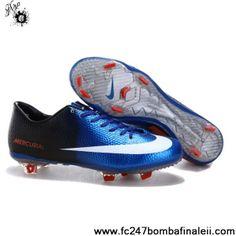 Buy Latest Listing Blue White Black Nike Mercurial Vapor IX FG Football Shoes For SaleFootball Boots For Sale