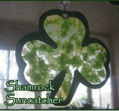 Shamrock suncatcher. St Patrick's day craft