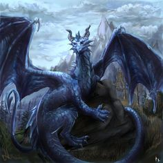 These misunderstood creatures that manage to give me so much hope... :) Blue dragon by ~EagleRedbeak on deviantART