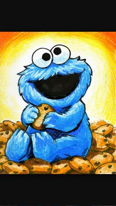 Cookie monster drawings
