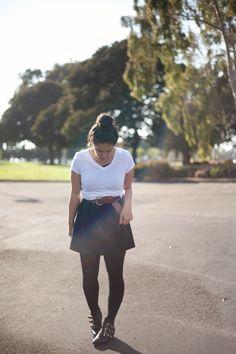 Black and White + black booties | kailaniskorner.com