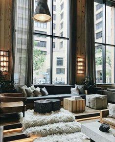 46 luxury living room decoration for modern house design 36 Loft Interior, Home Interior Design, Interior Architecture, Interior Ideas, Building Architecture, Luxury Interior, Loft Design, Modern House Design, Design Hotel