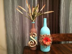 Wine bottle crafts :)