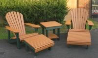 Recycled plastic Adirondack outdoor products in many different colors. Products include plastic Adirondack chairs, plastic bar and dining sets, plastic chaise lounges, and plastic picnic tables. Adirondack Furniture, Outdoor Furniture, Plastic Picnic Tables, Recycled Plastic Adirondack Chairs, Outdoor Chairs, Outdoor Decor, Dining Set, Sun Lounger, Larger
