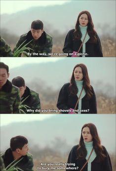 Crash Landing on You - 사랑의 불시착 episode 6 Korean Drama Funny, Watch Korean Drama, Korean Drama Quotes, Korean Drama Movies, Korean Tv Series, Kdrama Memes, Netflix, Fandoms, Kdrama Actors