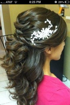 Cute updo with curls... Would look even more gorg a little longer!;)