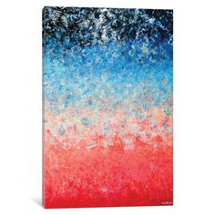 """East Urban Home Magical Wildfire Painting Print on Wrapped Canvas Size: 18"""" H x 12"""" W x 0.75"""" D"""
