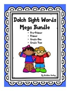 There are a total of 179 words included in this mega bundle!!! The bundle is a combination of my pre-primer, primer, grade one, and grade two Dolch sight word packs. Each level is divided into 8 or 10 groups of 5 to 6 words. There is an assessment after every 10-12 words (2 groups of words per assessment).