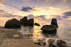 Point of view at sunset  by scrimafabio  sky landscape sea sunset water nature beach travel sun ocean rock waves background love romantic whi
