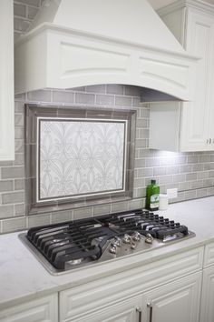 Blue Arabesque Kitchen Cooktop Backsplash Tiles Subway