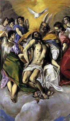 Nouveau Testament Le Christ mort dans les bras de Dieu  El Greco (Le Prado, Madrid)
