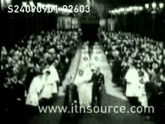 The Royal wedding of Princess Elizabeth to Lieutenant Philip Mountbatten 1947