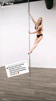 Pole Fitness Moves, Pole Dancing Fitness, Sport Fitness, Pole Dance Wear, Pole Dance Moves, Yoga Dance, Abs Workout Video, Workout Exercises, Gymnastics Gym