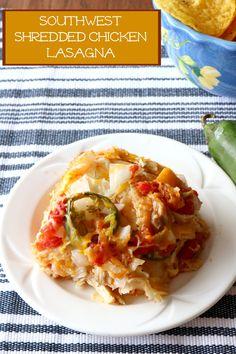 Southwest Shredded Chicken Lasagna Recipe from 5DollarDinners.com