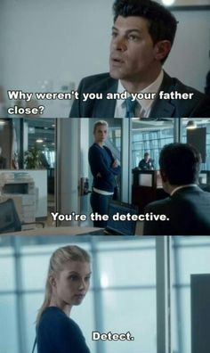 """#Stitchers 1x01 """"A Stitch in Time"""" - Det. Quincy Fisher and Kirsten"""
