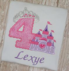 A personal favorite from my Etsy shop https://www.etsy.com/listing/129052949/princess-crown-castle-birthday-shirt
